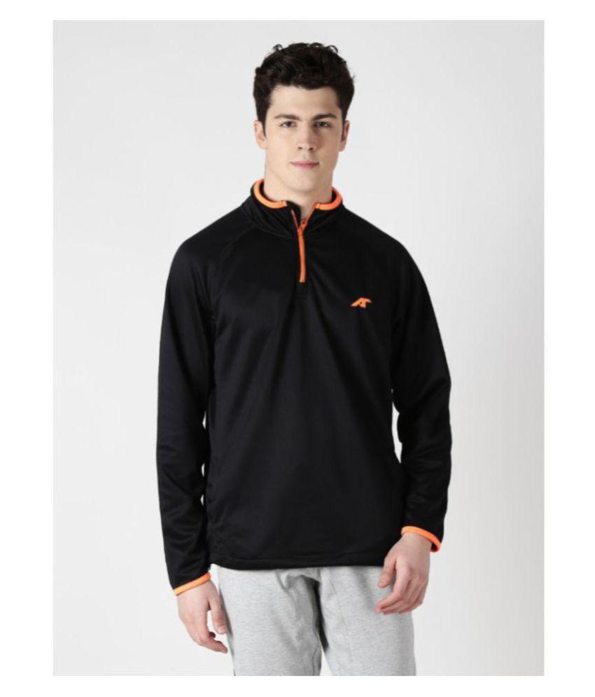 Alcis Black Polyester Fleece Sweatshirt