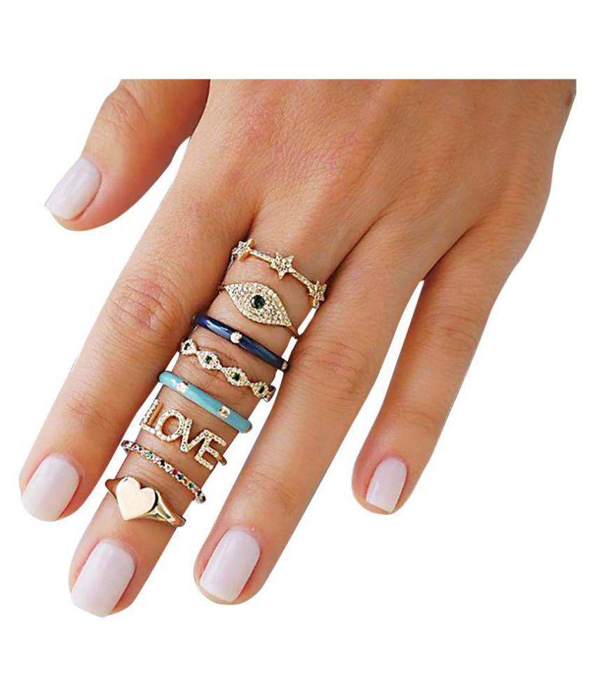 ba59800a2a3 Enchanting Multicharm Ring Set