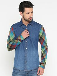 3e6a436283 Denim Shirt  Jeans   Denim Shirts For Men UpTo 77% OFF - Snapdeal.com