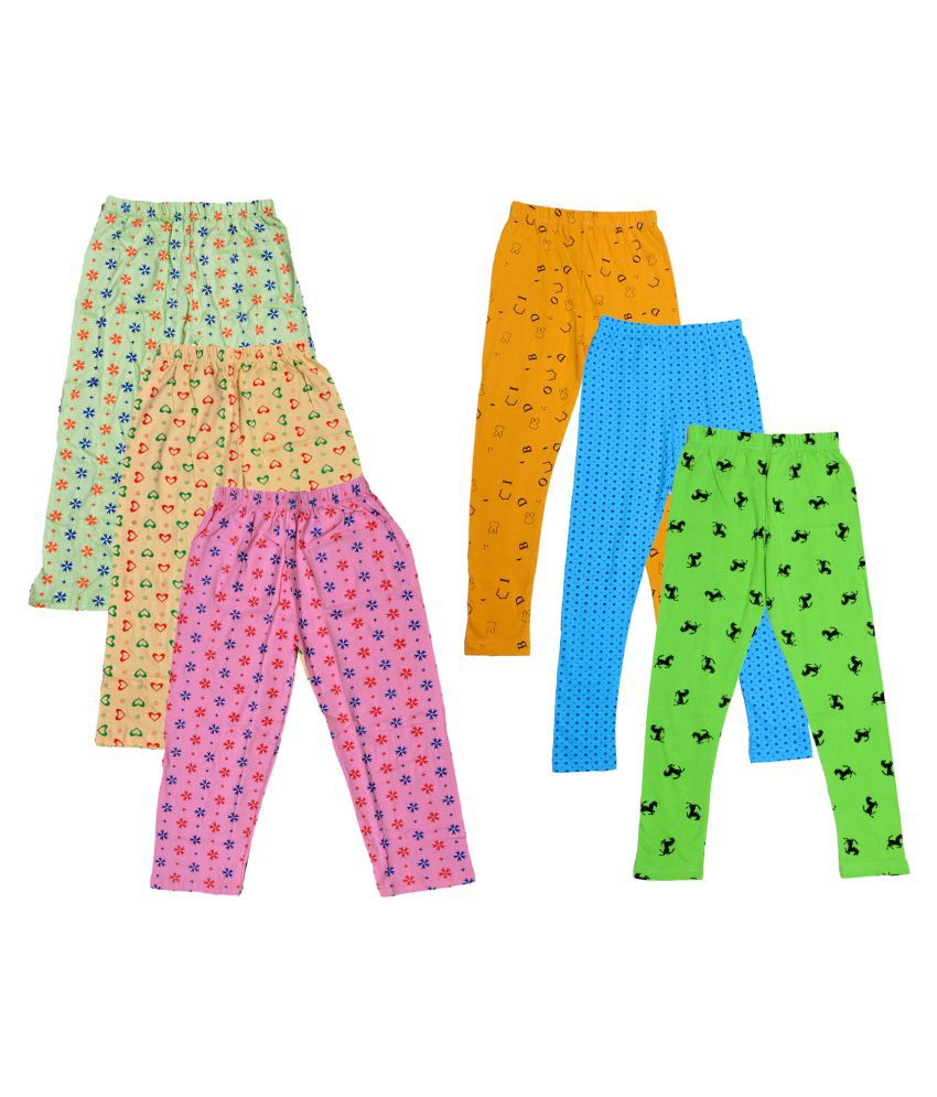 KAYU Girls Cotton Pyjama/Lower and Leggings (Pack of 6)