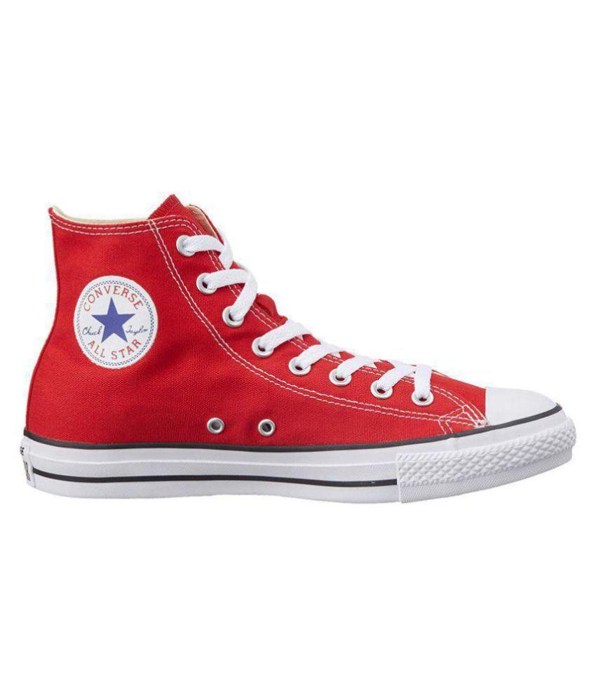 Converse Canvas Shoes - Buy Black, Red Color Converse
