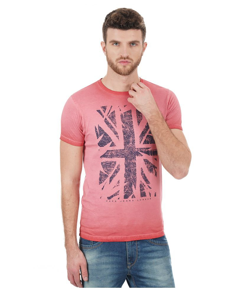 28331433bb Pepe Jeans Red Half Sleeve T-Shirt - Buy Pepe Jeans Red Half Sleeve T-Shirt  Online at Low Price - Snapdeal.com