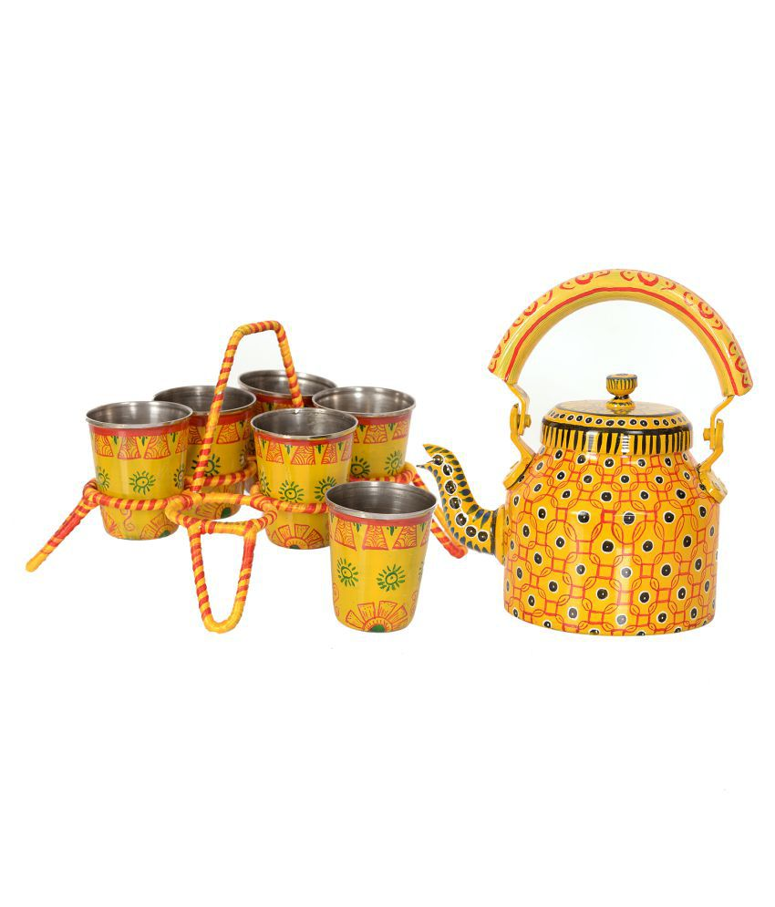 Unique Indian Crafts Steel Kettle 1000 Ml Buy Online At Best Price