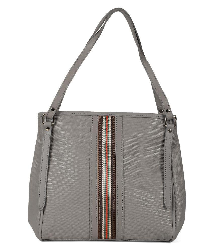 Kielz Grey Synthetic Casual Messenger Bag