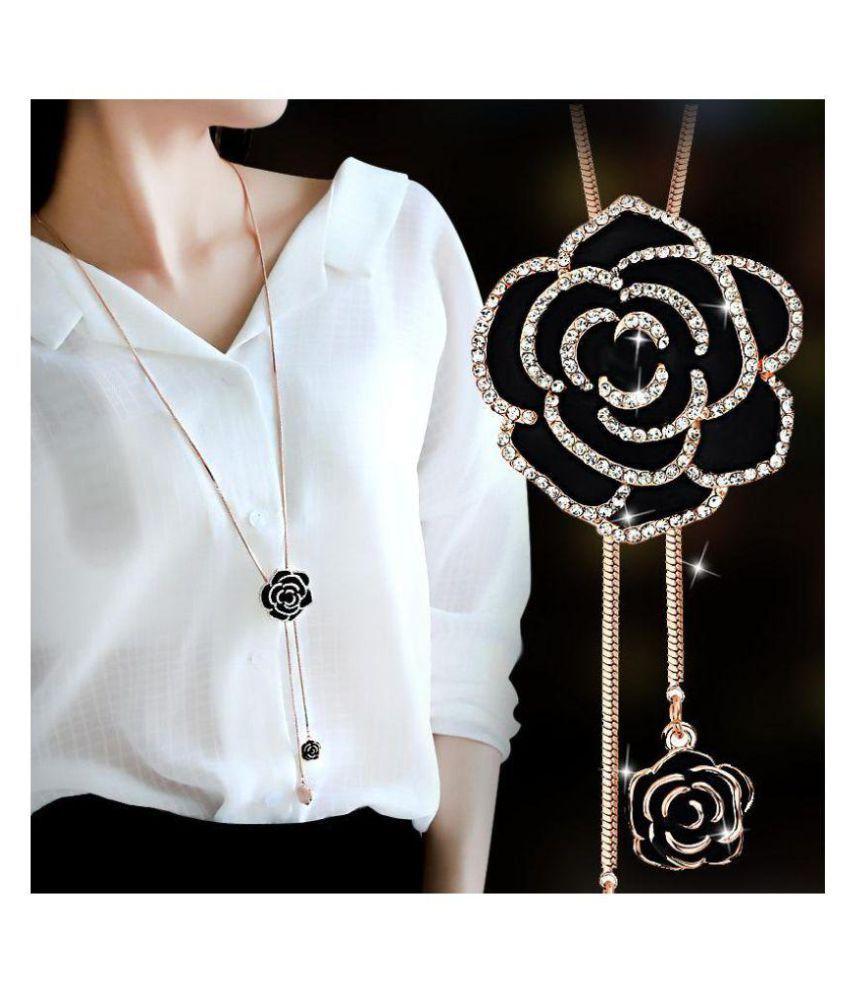 23c79b898252f Sukkhi Alloy Golden Long Haram Contemporary/Fashion 18kt Gold Plated ...