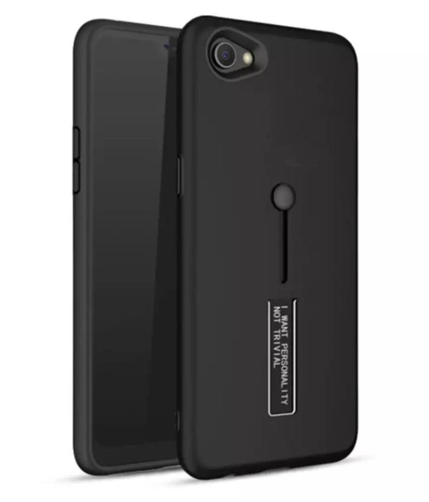 Vivo Y71 Cases with Stands SpectraDeal - Black Personality Cover Ruber and Hard TPU+PC