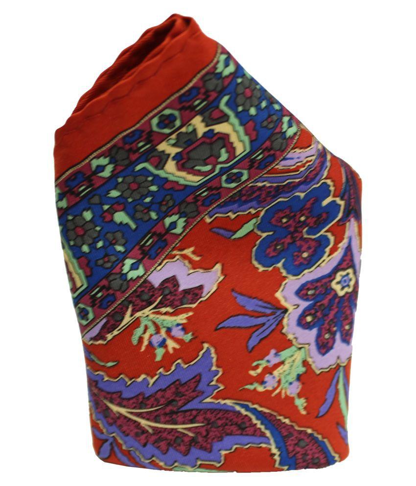 Leonardi Men's Multicolour Polyester Printed Casual Pocket Square