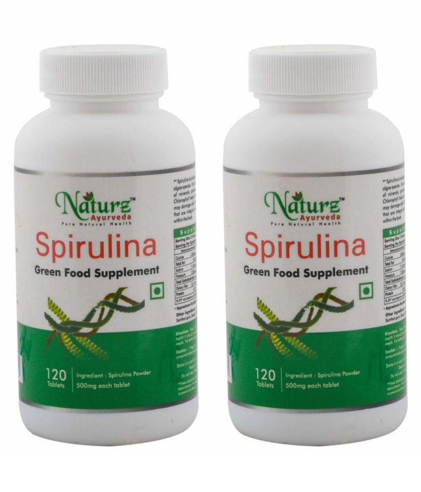 Naturz Ayurveda Spirulina 120 Tablet 500 mg Pack Of 2