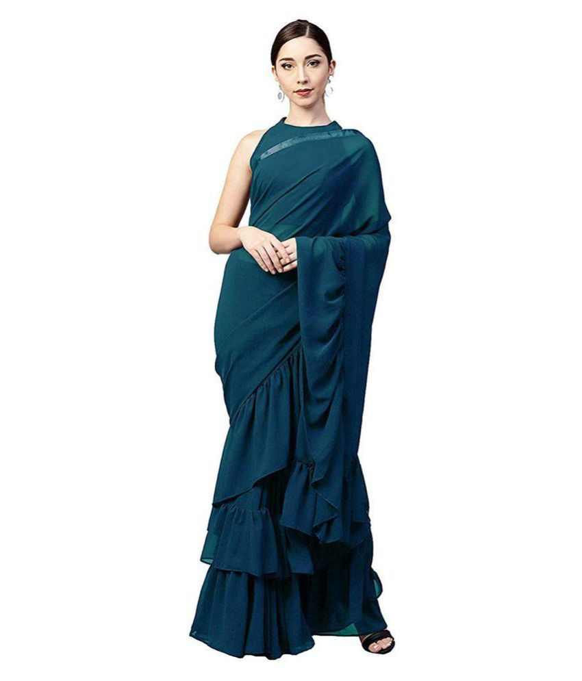Arohi Designer Green Silk Saree