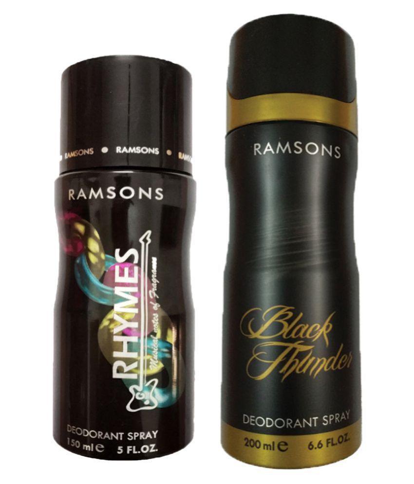 6b6fb6fb289 ERAMSONS RHYMES DEODORANT SPRAY 150ML+RAMSONS BLACK THUNDER DEODORANT SPRAY  200ML  Buy Online at Best Prices in India - Snapdeal