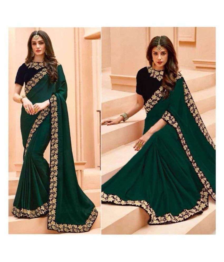 Lajree Designer Green Silk Saree