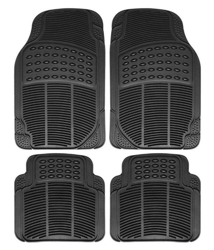 Ek Retail Shop Car Floor Mats (Black) Set of 4 for TataIndicaeV2LXBSIII