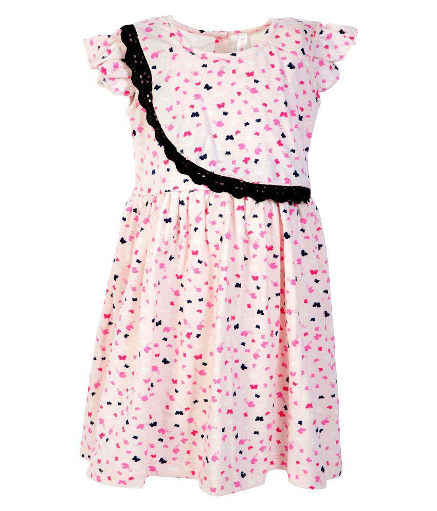 ffcad785ff800 Stylo Bug Kids Dress, Cap Sleeve Printed Round Neck Dress For Girls, Pink -  Buy Stylo Bug Kids Dress, Cap Sleeve Printed Round Neck Dress For Girls, ...