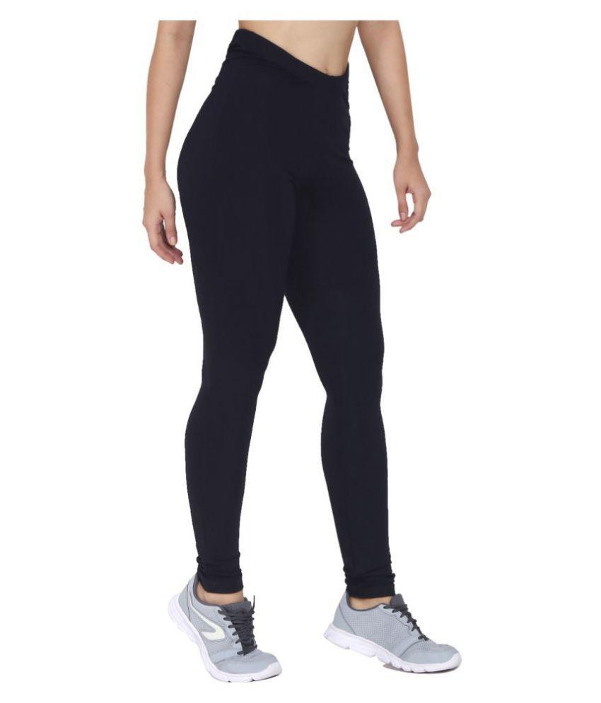CHKOKKO Premium High Waist Solid Ankle Length Stretchable Viscose Leggings for Women