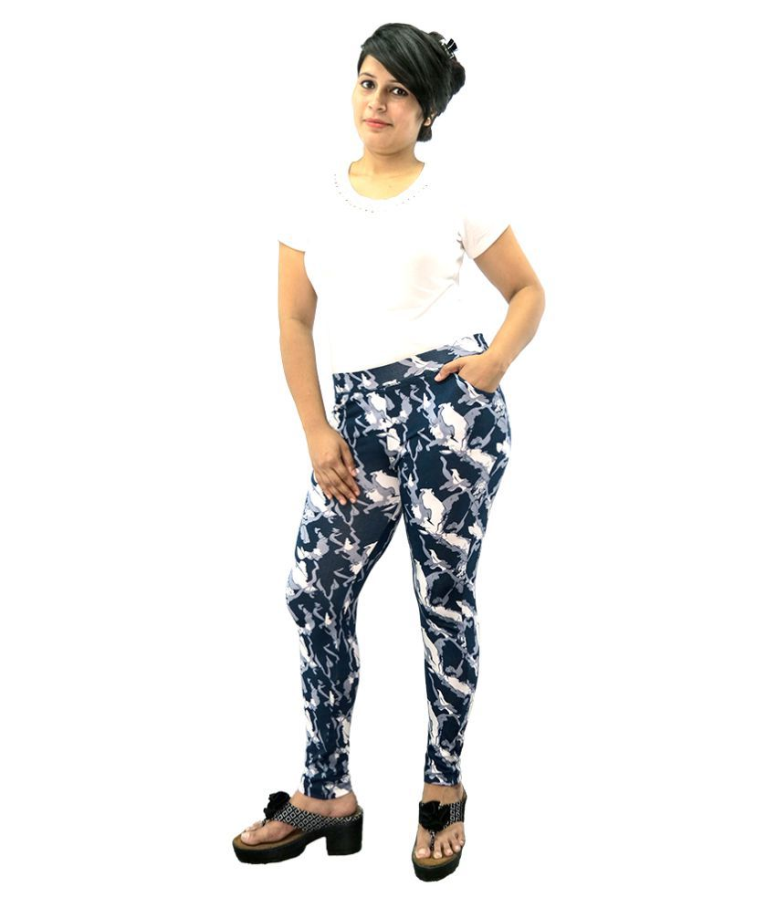 Wolfberry Cotton Lycra Jeggings - Multi Color