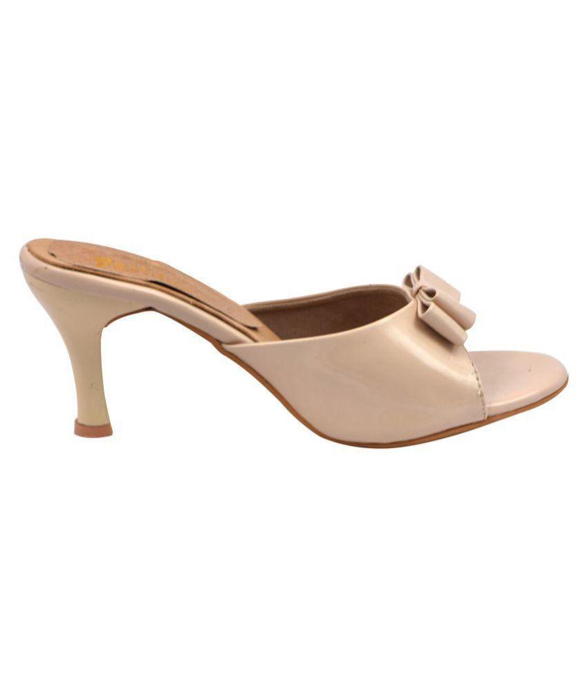 raien fashion Beige Cone Heels