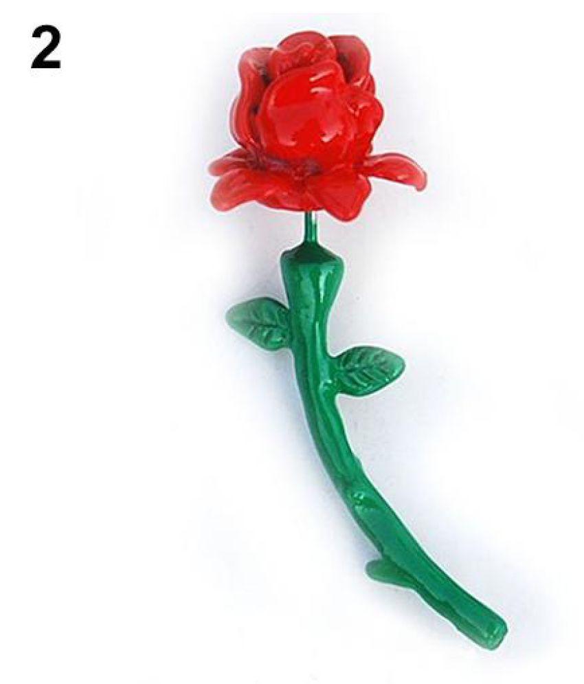 Women Korean Style Rose Flower Ear Stud Fashion Piercing Earring Valentine Gift Fashion Jewellery