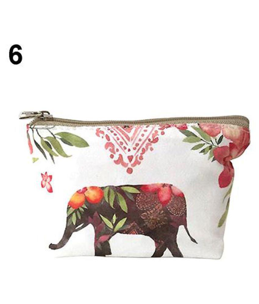 1Pc Cute Children Kids Animal Pattern Canvas Zipper Coin Purse Wallet Bag