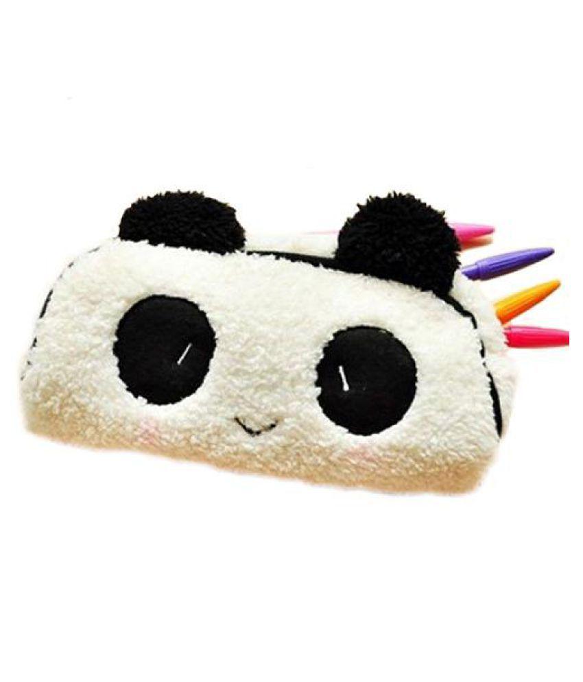 Soft Plush Panda Pattern Pencil Case Pen Pocket Cosmetic Makeup Bag Pouch Gift