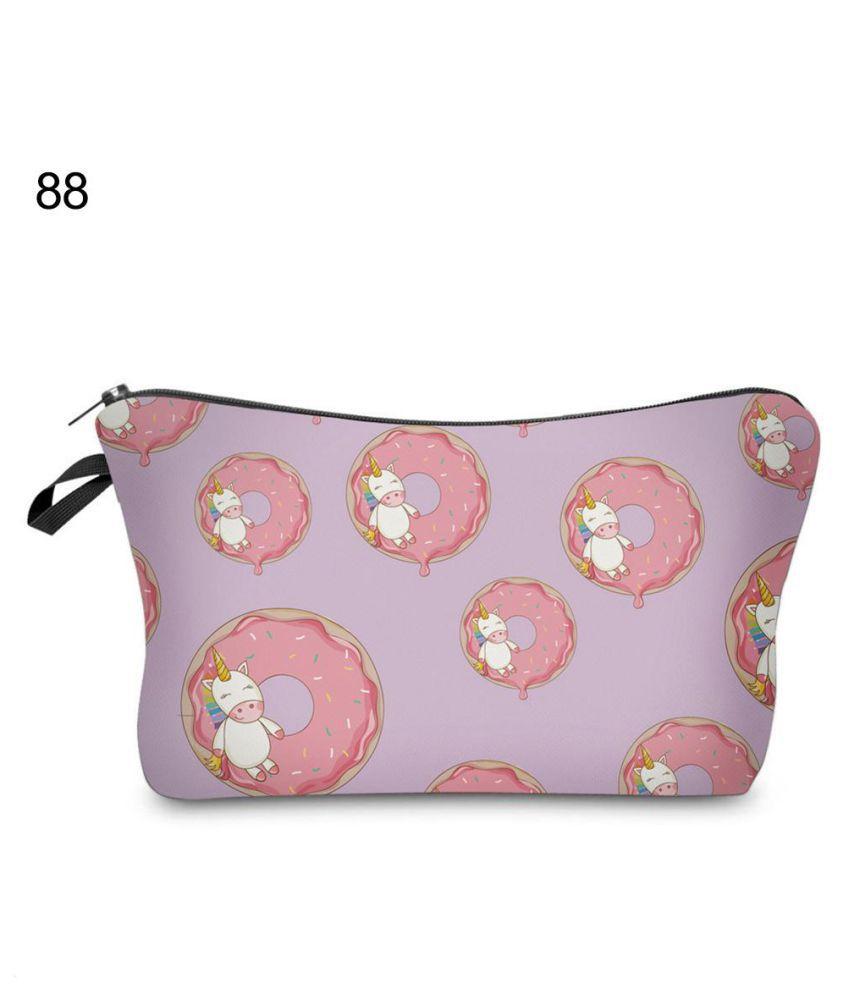 Unicorn Make Up Bag Pencil Case Emoji Cosmetic Travel Girls ladies Gift Purse