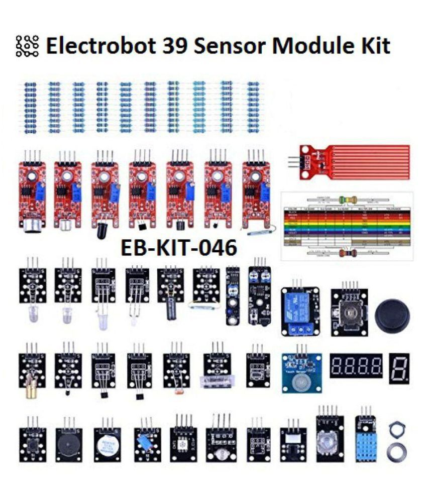 Electrobot 39 Sensor Module Kit, The Starter Kit Robot Projects for Arduino  UNO R3 Raspberry Pi 3 2 Mega Due Nano Arduino Programming With Tutorials