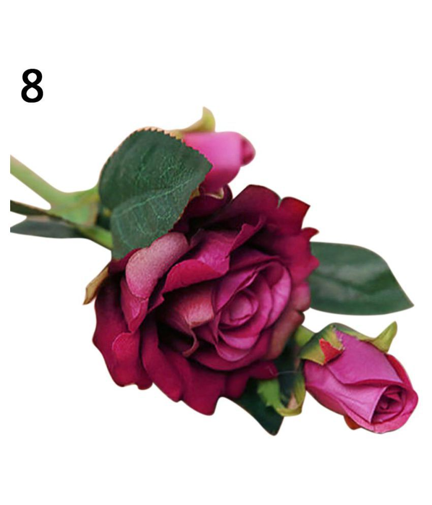 Artificial Rose Flowers Cloth Centerpiece Craft Wedding Party Home