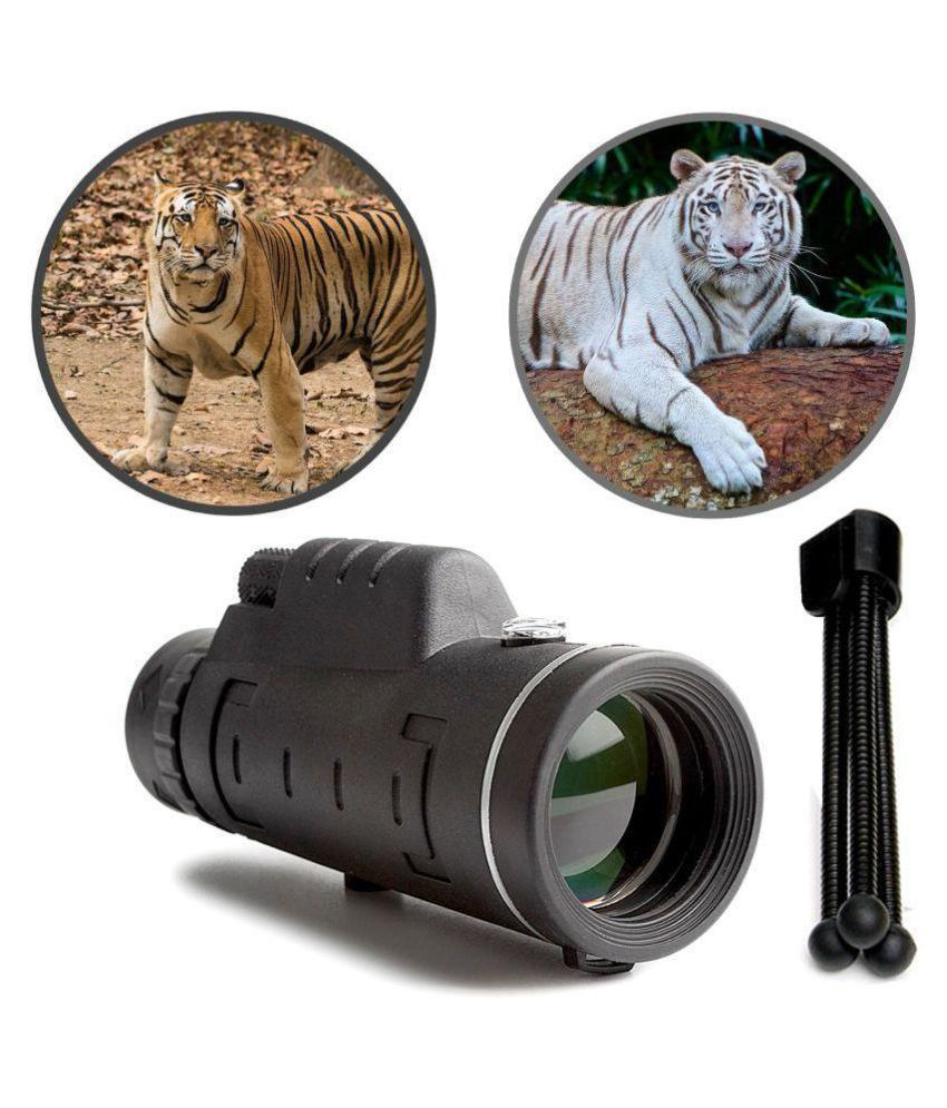 Dual Focus Optics Zoom 18x62 Monocular Portable Telescope HD Optical with Carrying Bag/Cleaning Cloth, for Wildlife Hunting Watching Live Concert 114FT/1000YDS with Compass