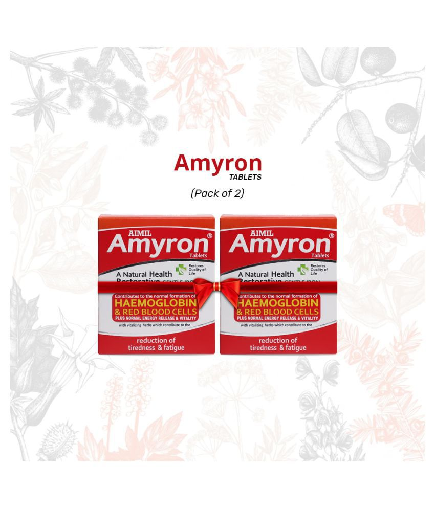 Aimil Amyron to Improve Haemoglobin Level Tablet 30 gm Pack Of 2