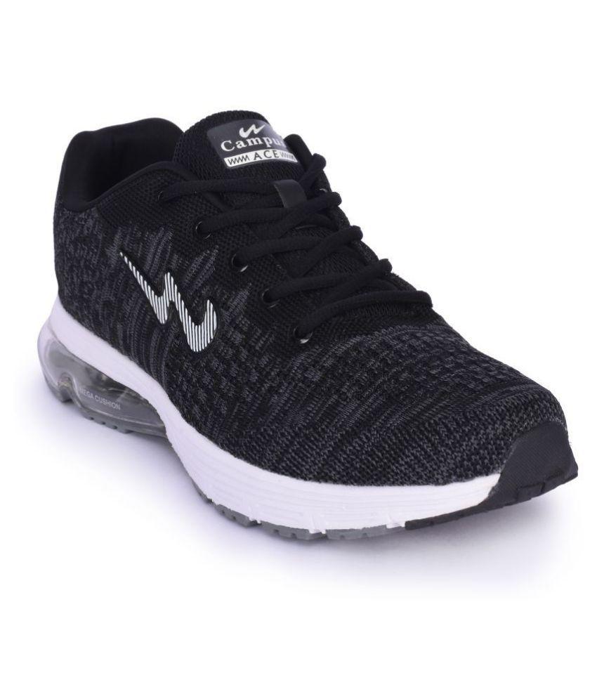 Campus KRISH Black Casual Shoes