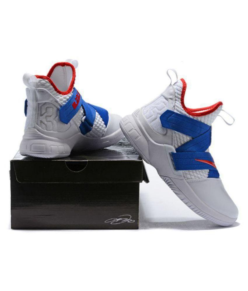 the best attitude aa923 ebe0f Nike Lebron Soldier 12 Blue White Midankle Male Blue