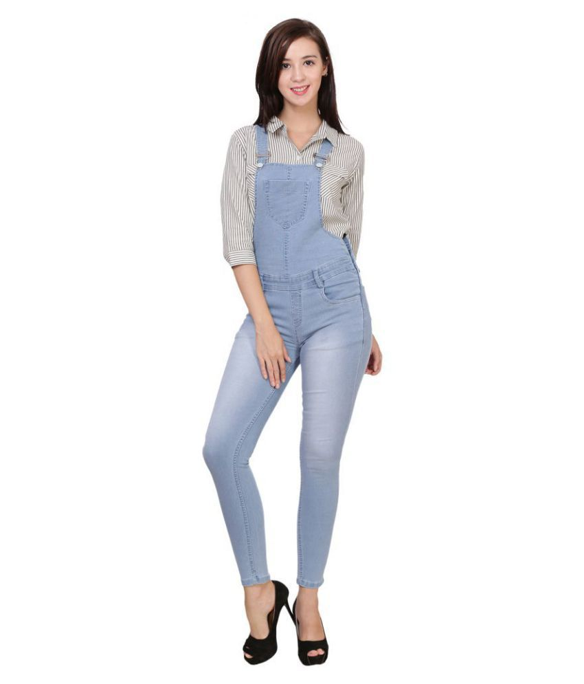 Stanvee Denim Jeans Dungarees - Blue