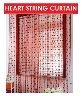 Home Garage Set of 2 Door Heart String Curtain