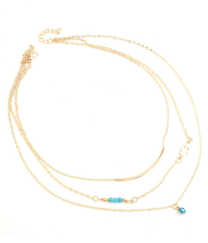Serendipity Alloy Golden Color Other Designer Golden Color Plated Necklace Fashion Jewellery
