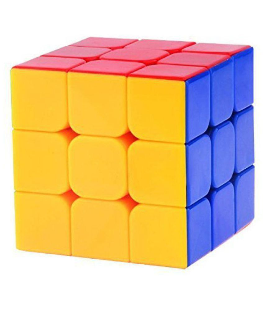 Vihaa Rubik Cube   3x3x3 High Speed Magic Cube   High Stability, Stickerless, Amazing Stress Reliever Educational Cube Puzzle Game for Kids, Multicolor (1 Piece)