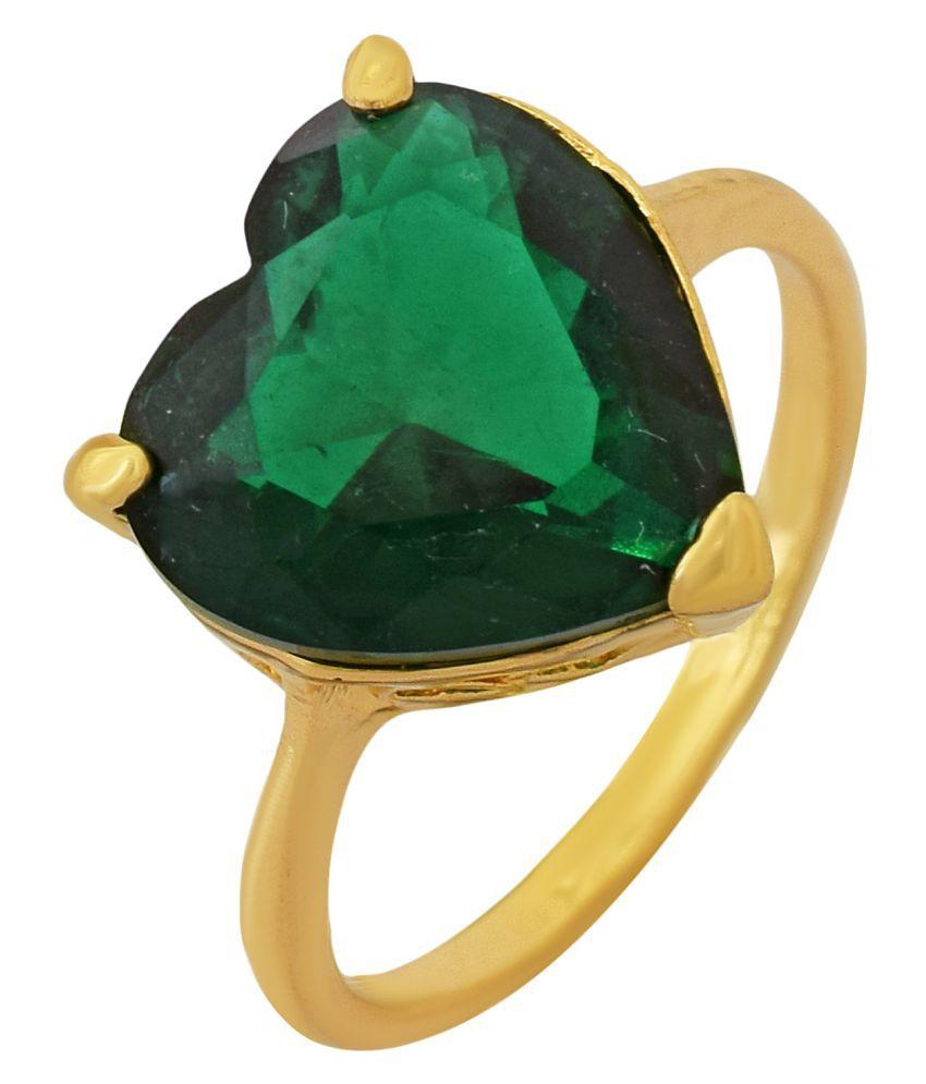 07f2133523fb0 MissMister Gold plated Heartshape Emerald Green Cubic Zirconia Fashion  finger ring Women Gift Love proposal