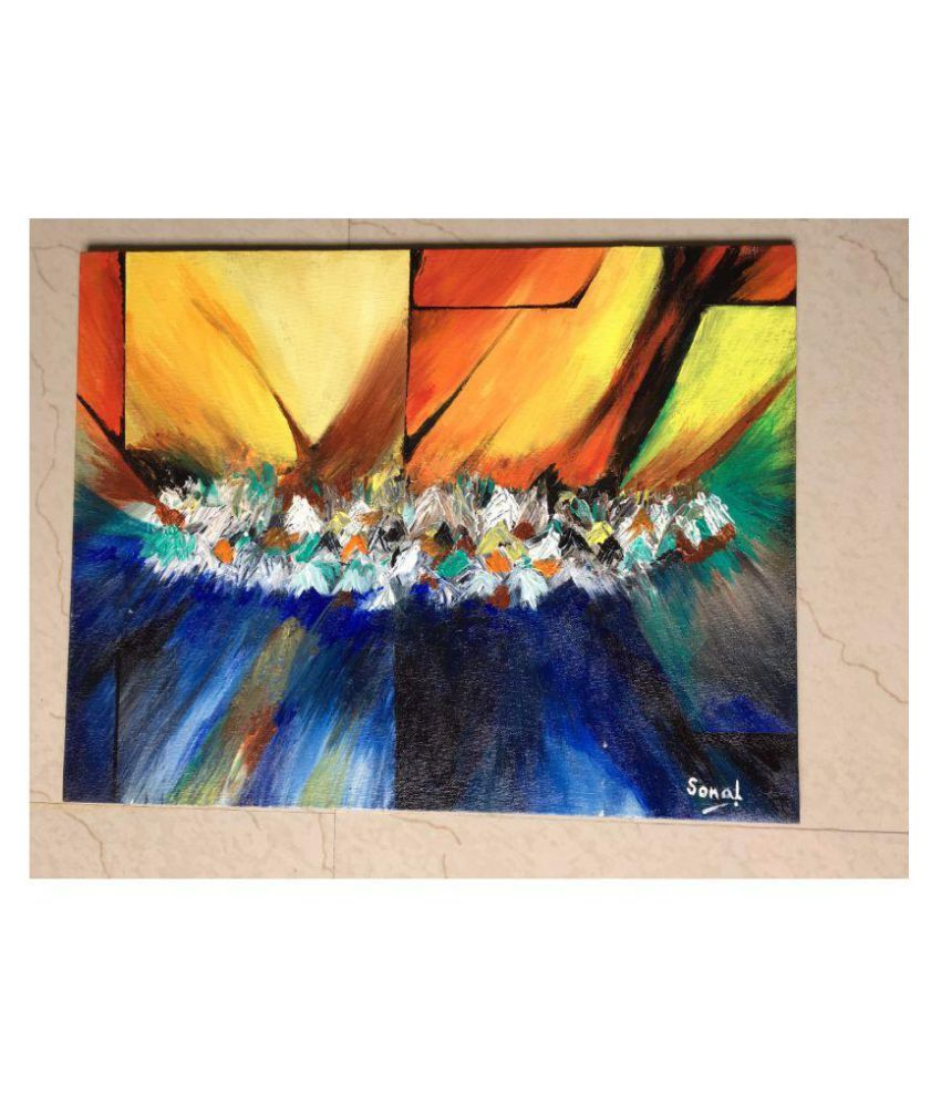 Wego Abstract Acrylic Texture Painting on Canvas at WeGo Art gallery Canvas Painting Without Frame