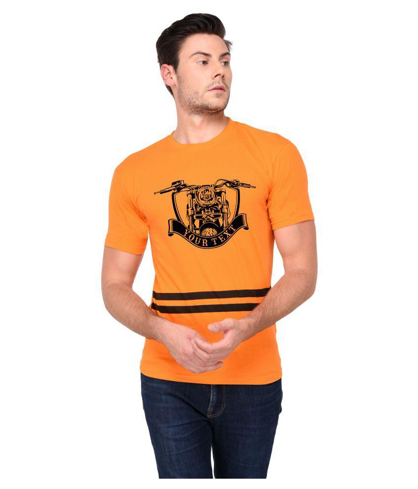 Trends Tower Orange Half Sleeve T-Shirt