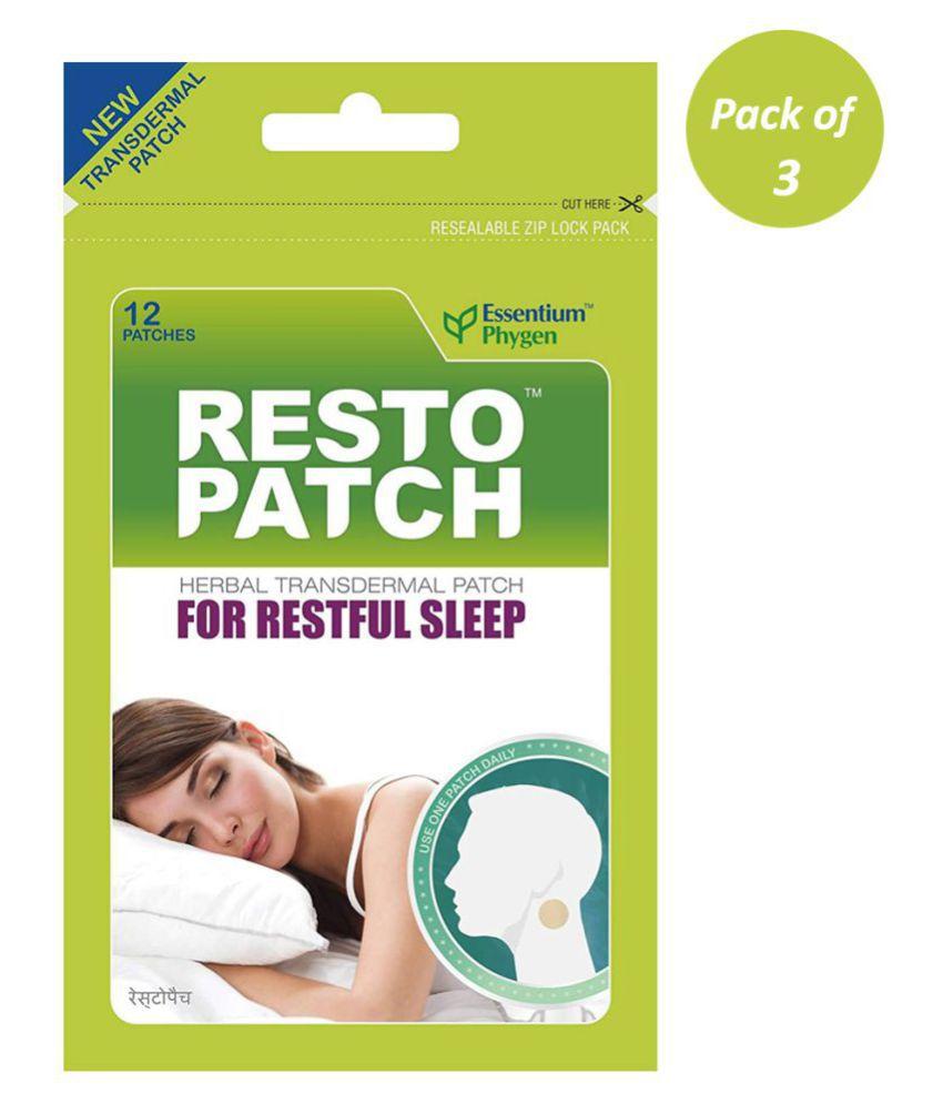 Essentium Phygen Restopatch 100% Natural Sleep Patch Paste 12 no.s Pack of 3