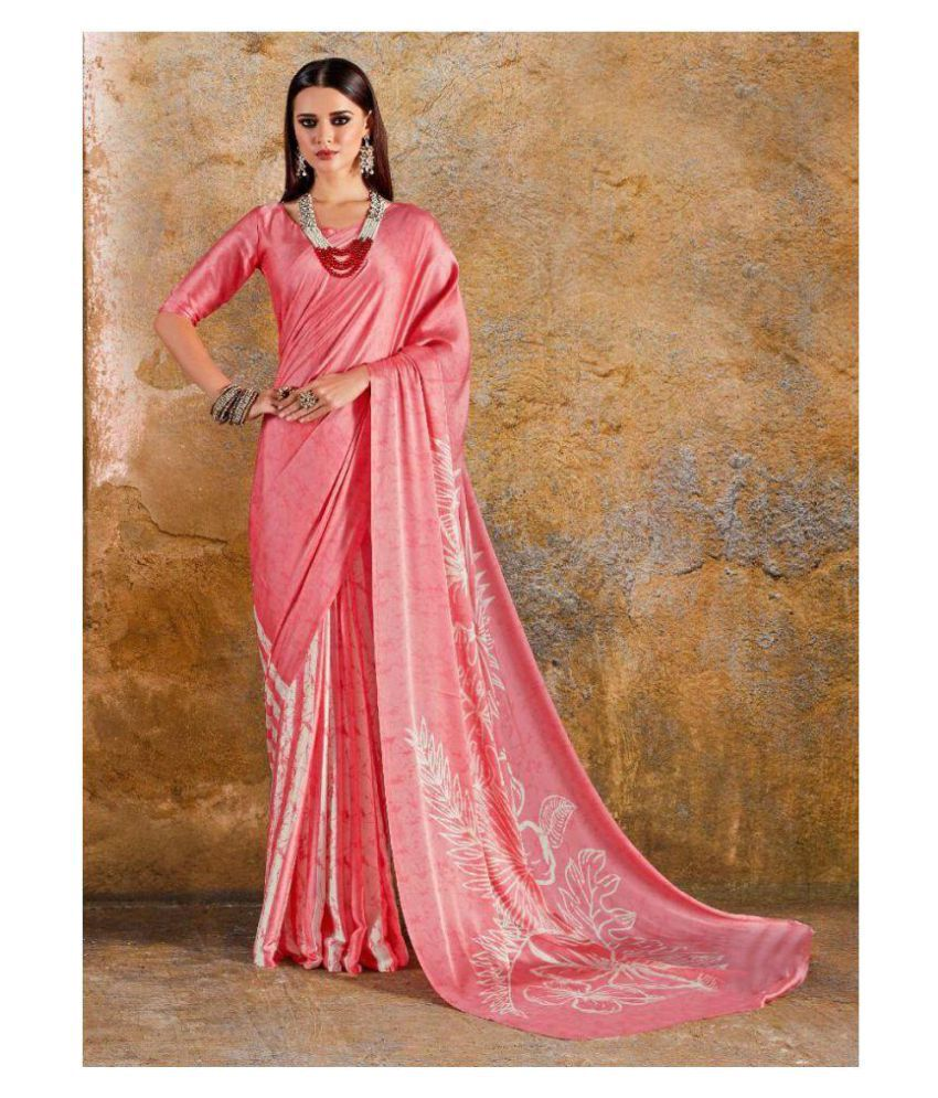 IndianEfashion Pink Silk Saree