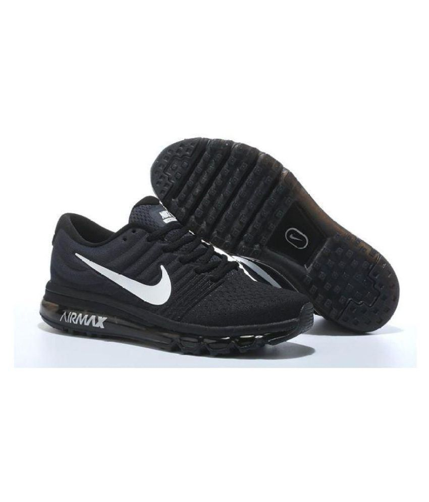 new style 7c4c4 58cdd Nike Air Max 2017 Black Running Shoes - Buy Nike Air Max 2017 Black Running  Shoes Online at Best Prices in India on Snapdeal