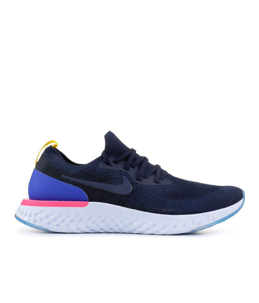 buy online 84604 9662f Nike EPIC REACT FLYKNIT Blue Running Shoes - Buy Nike EPIC REACT FLYKNIT  Blue Running Shoes Online at Best Prices in India on Snapdeal