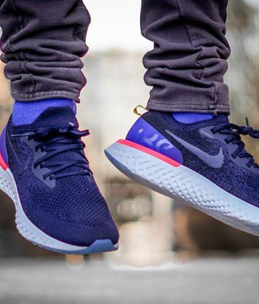 be4ca44c12eab Nike Epic React Flyknit Blue Running Shoes - Buy Nike Epic React ...