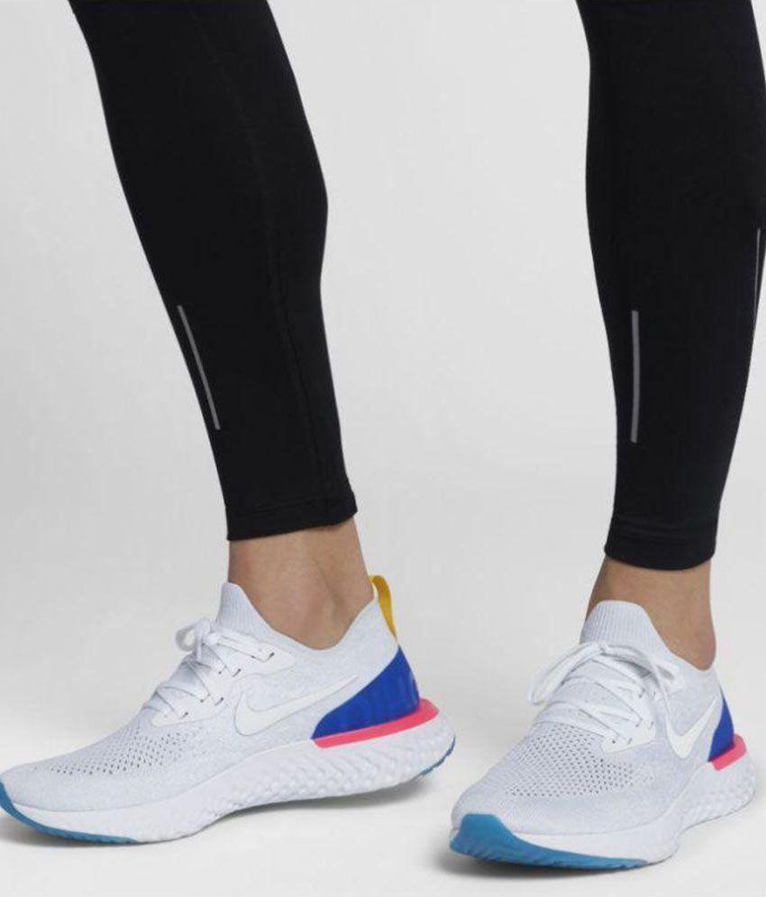 another chance d0476 91263 Nike Epic React Flyknit White Running Shoes