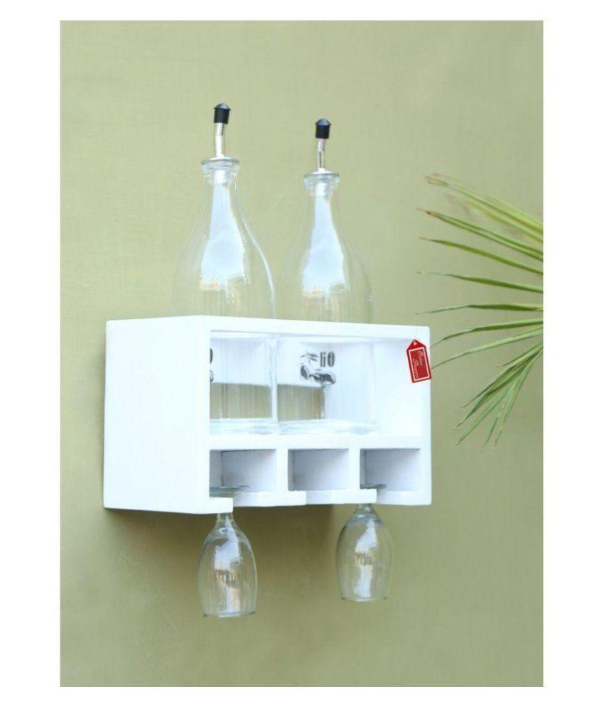 Onlineshoppee Floating Shelves White Wood - Pack of 1