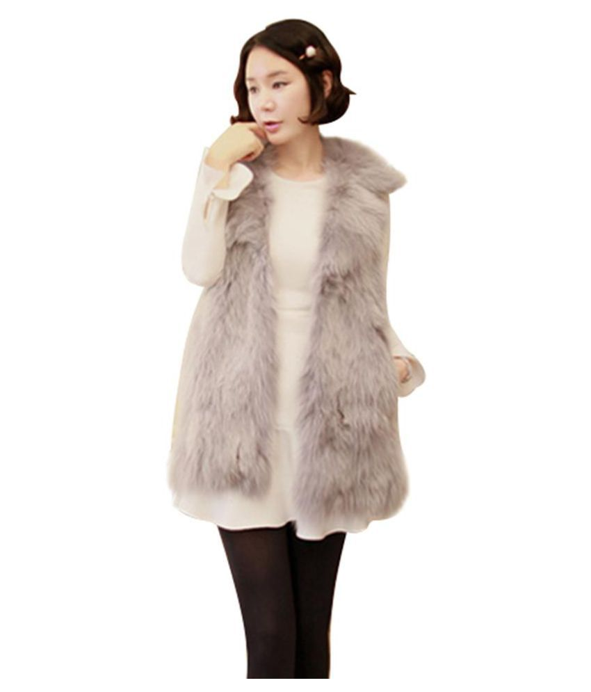 25f3117778 Buy Fashion Women Artificial Fox Fur Vest Turn Down Collar Waistcoat Casual  Coat Top Online at Best Prices in India - Snapdeal