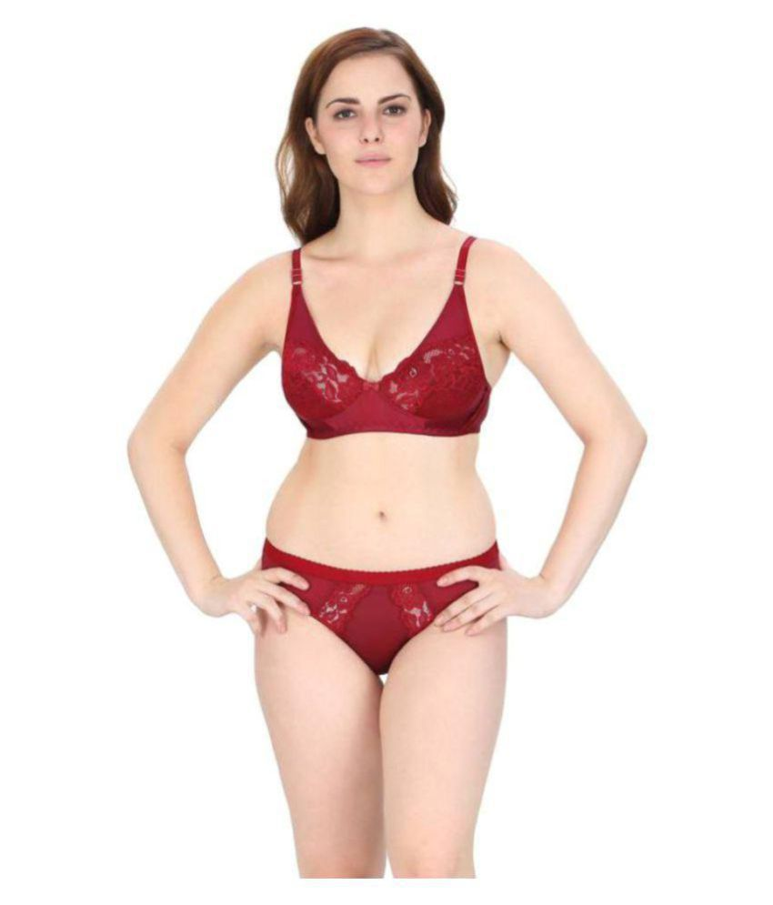 4933a23ac2f Buy HOBBY LINGERIE Cotton Bra and Panty Set Online at Best Prices in India  - Snapdeal