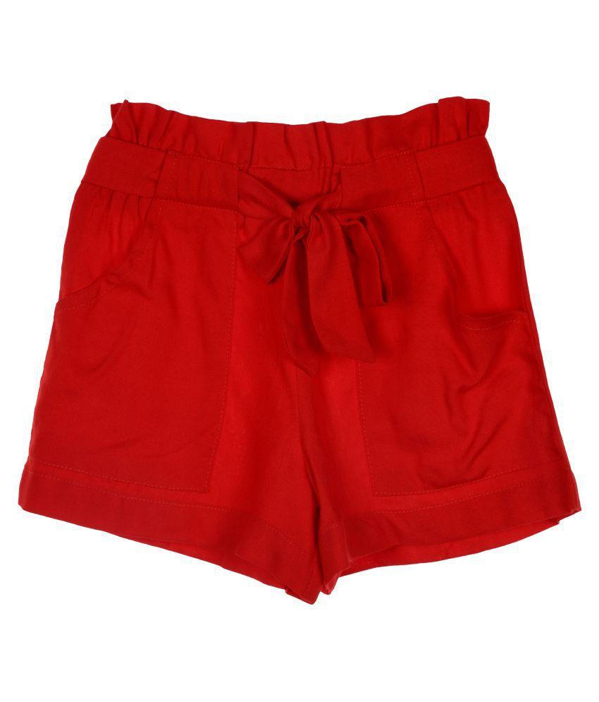 Hunny Bunny Girls  Plain Rayon Shorts