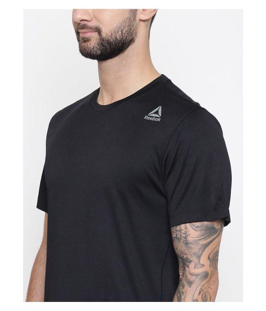 Reebok Black Half Sleeve T-Shirt