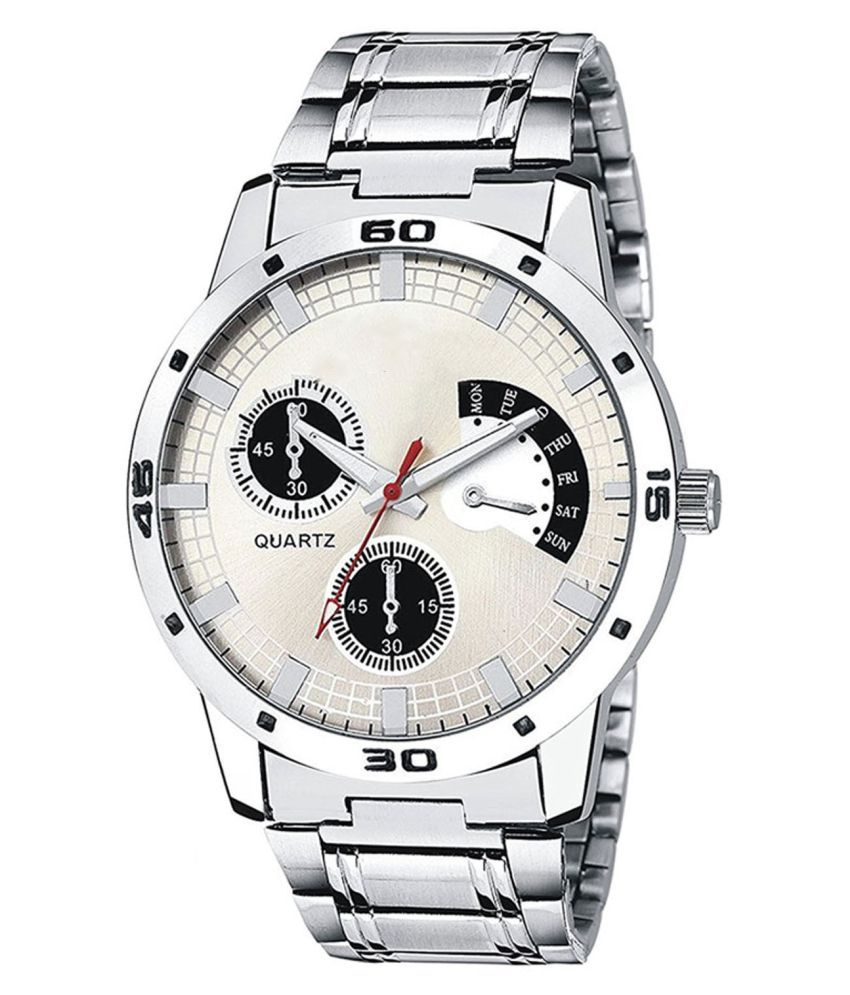 FIRSTLY  STYLISH DIAL WATCH FOR MEN AND BOY Stainless Steel Analog Men's Watch