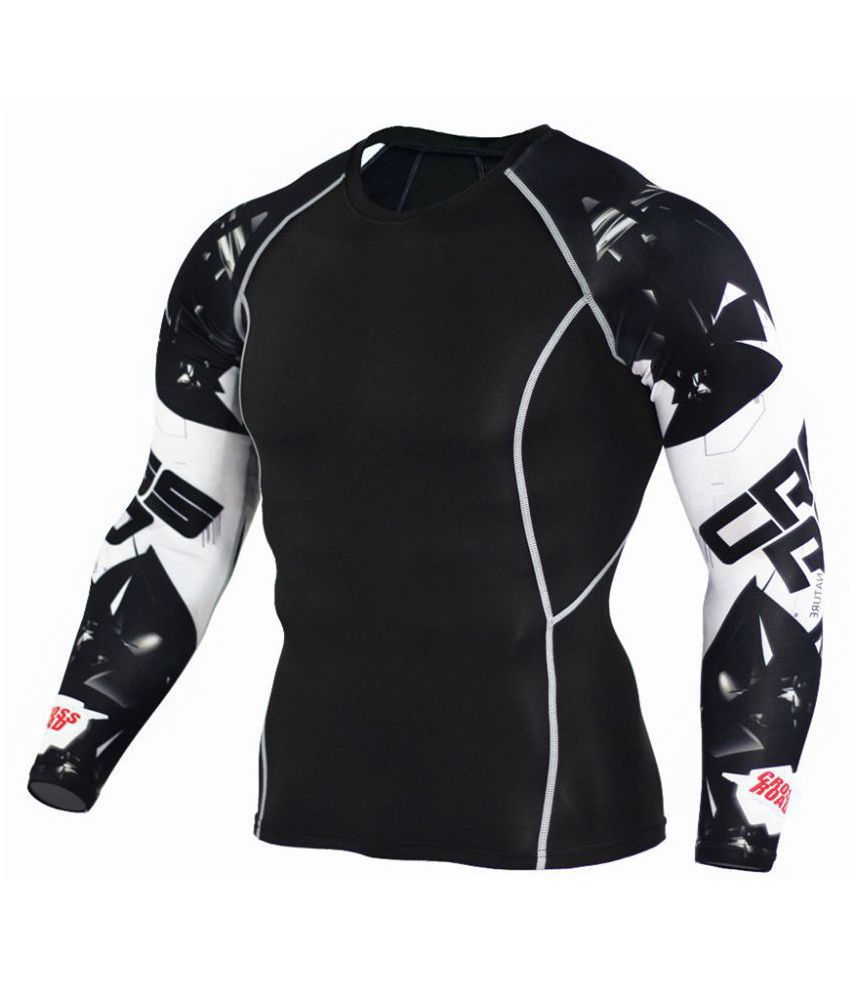 Men's arm print sports compression sportswear